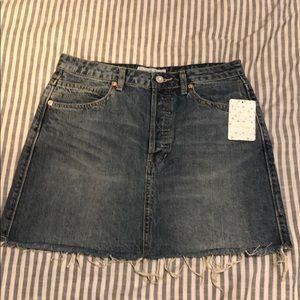 NWT Free People Denim Skirt